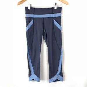 Lululemon Blue Crop Yoga Leggings 4